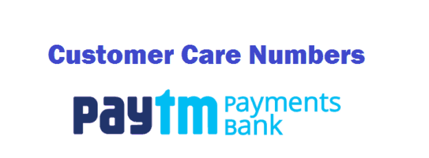 Paytm Payment Bank Customer Care